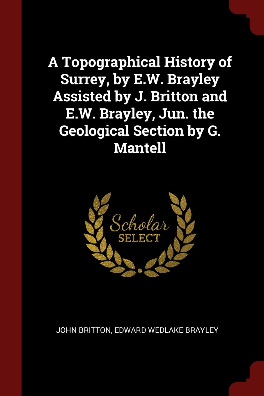 A Topographical History of Surrey, by E.W. Brayley Assisted by J. Britton and E.W. Brayley, Jun. the Geological Section by G. Mantell. John Britton, Edward Wedlake Brayley