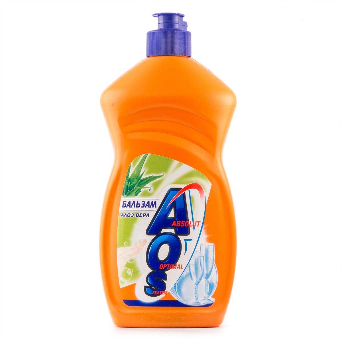 Средство для мытья посуды AOS 500мл БАЛЬЗАМ средство для мытья посуды aos 450 мл бальзам 2в1 в ассорт