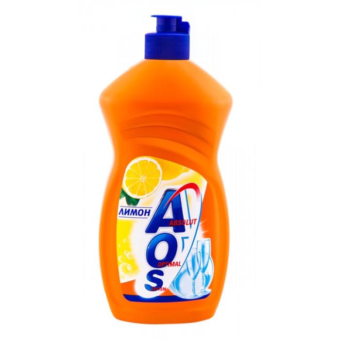 Средство для мытья посуды AOS 500мл ЛИМОН средство для мытья посуды aos 450 мл бальзам 2в1 в ассорт