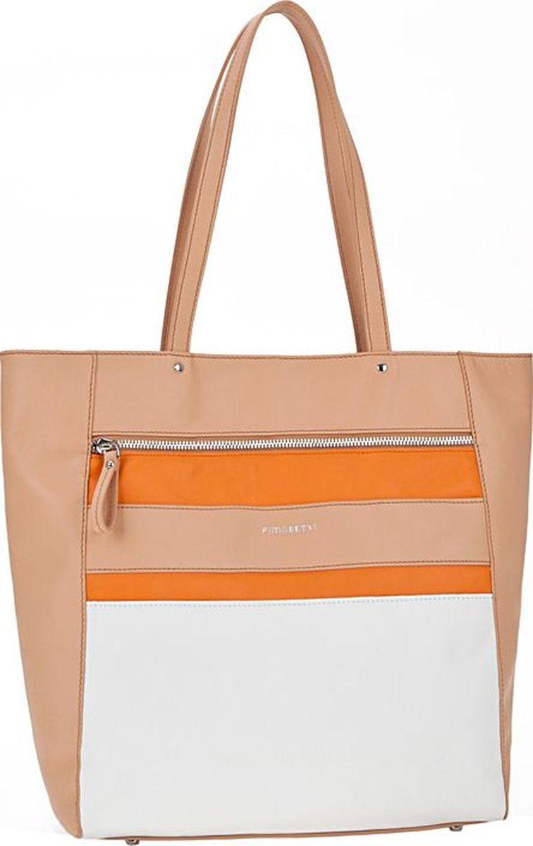 цена на Сумка женская Pimo Betti, 12544B-W1 253/065/454 CFEAJ, бежевый, белый, оранжевый