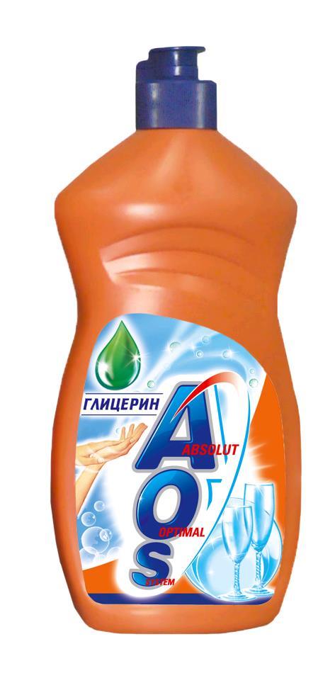 Средство для мытья посуды AOS 500мл ГЛИЦЕРИН средство для мытья посуды aos 450 мл бальзам 2в1 в ассорт