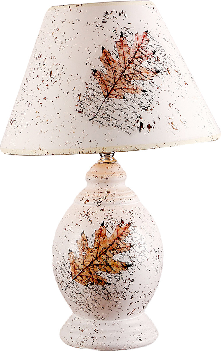 Настольный светильник Risalux Кленовый лист, вазон, E27, 2800087, белый, 25 х 25 х 42 см цена