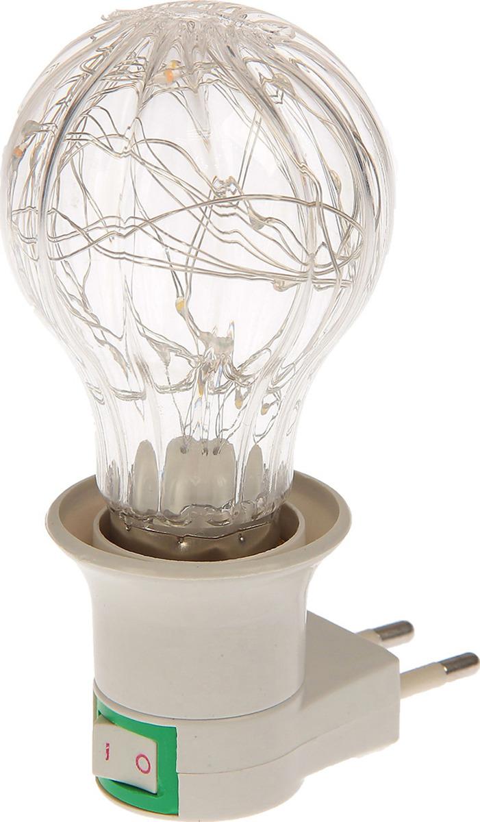 Ночник Risalux Лампа, LED, 2802302, прозрачный, 12 х 5,5 х 7 см