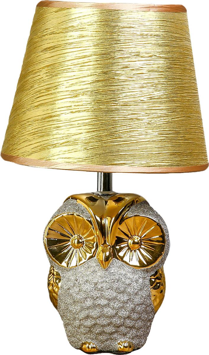 Настольный светильник Risalux Золотой филин E14, 25W, E14, 25 Вт настольный светильник risalux аиша e14 25w 2534045 голубой 25 х 25 х 37 см