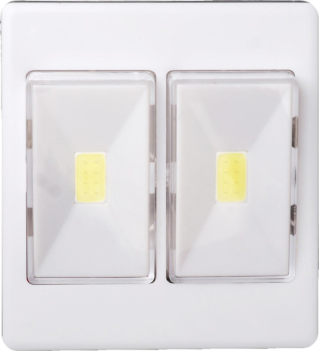 Ночник Risalux Включатель двойной, LED, 3558400, белый, 9 х 10 х 3 см