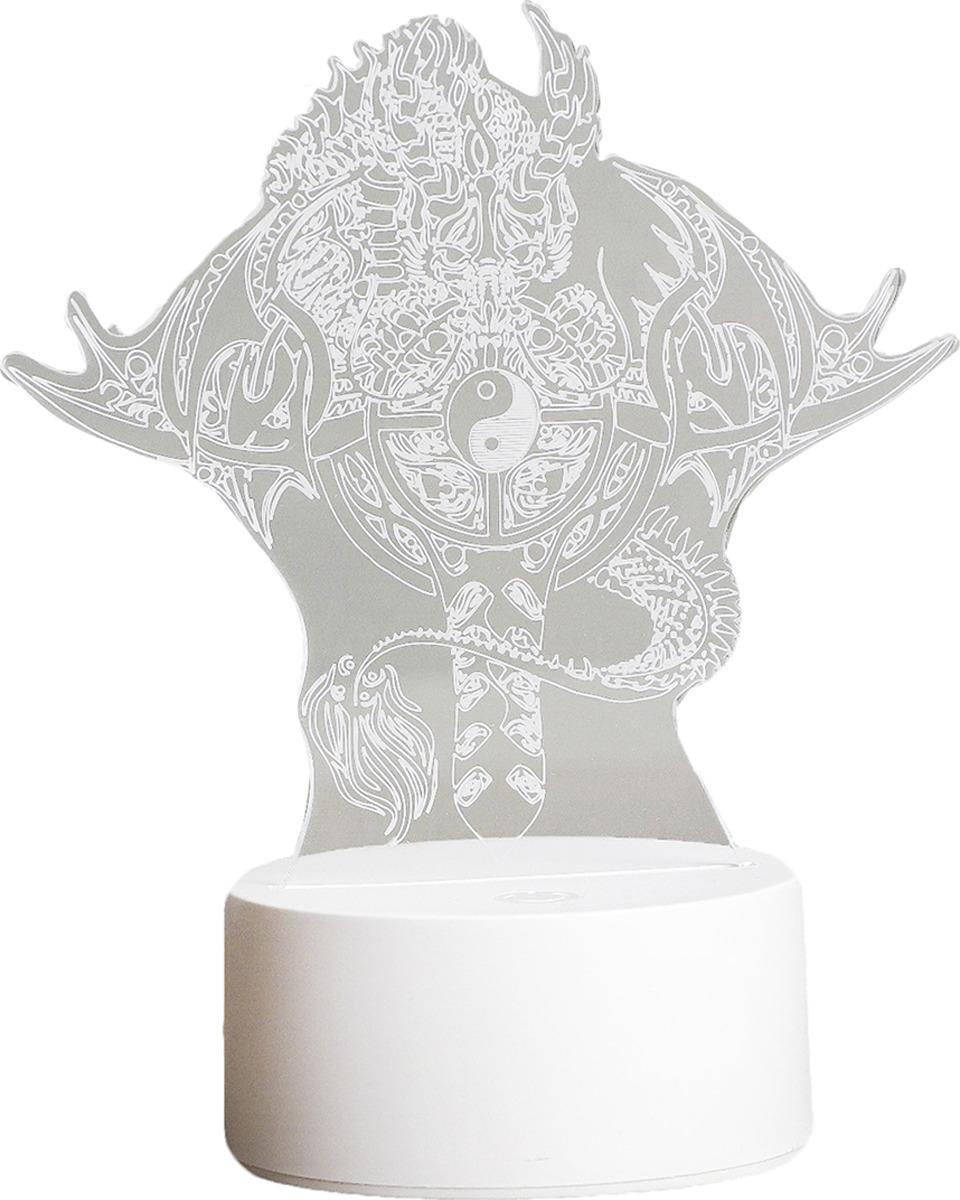 Ночник Risalux Дракон, LED, 3590492, прозрачный, 22,5 х 14 х 5 см