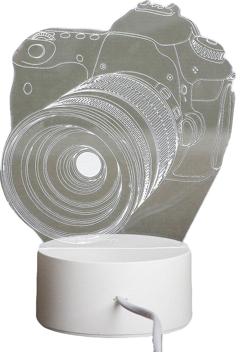 Ночник Risalux Фотоаппарат, LED, 3590493, прозрачный, 22,5 х 14 х 5 см