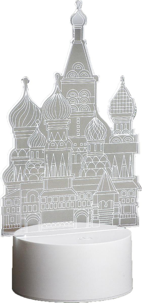 Ночник Risalux Кремль, LED, 3590494, прозрачный, 22,5 х 14 х 5 см