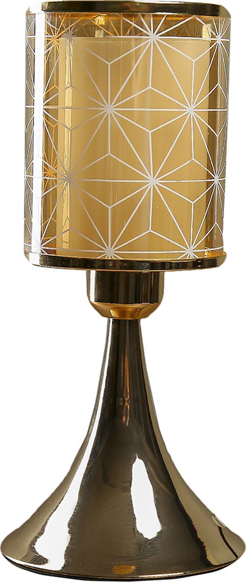 Настольный светильник Risalux Графичные цветы E27, 40W, E27, 40 Вт настольный светильник risalux каладиум e27 40w 3742781 белый 23 х 23 х 40 5 см