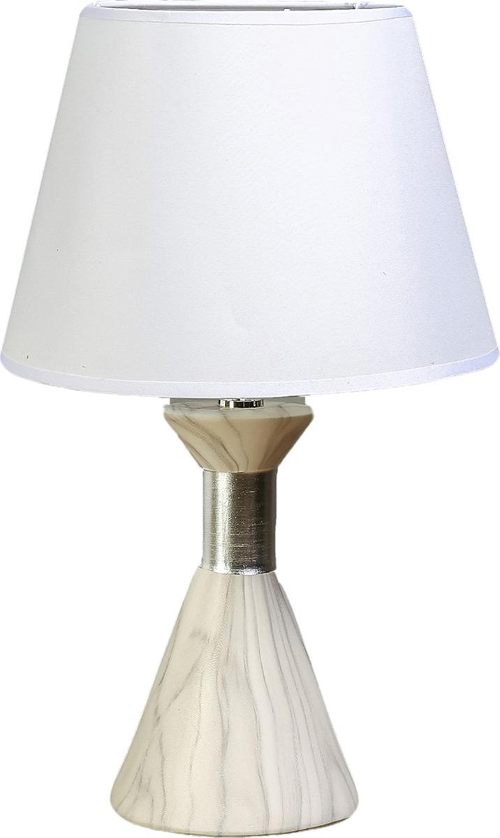 Настольный светильник Risalux Мрамор с серебристой вставкой E14, 40W, E14, 40 Вт настольный светильник risalux одуванчики e27 40w 3635955 13 х 13 х 30 5 см