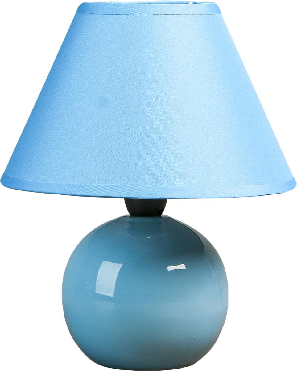 Настольный светильник Risalux Шар синий E14, 25W, E14, 25 Вт настольный светильник risalux грани e14 25w 3516424 розовый 20 х 20 х 30 см