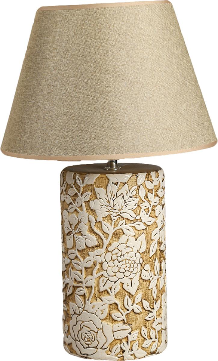Настольный светильник Risalux Резные цветы E27, E27 настольный светильник risalux резные цветы e27 3736887 бежевый 30 х 30 х 48 см