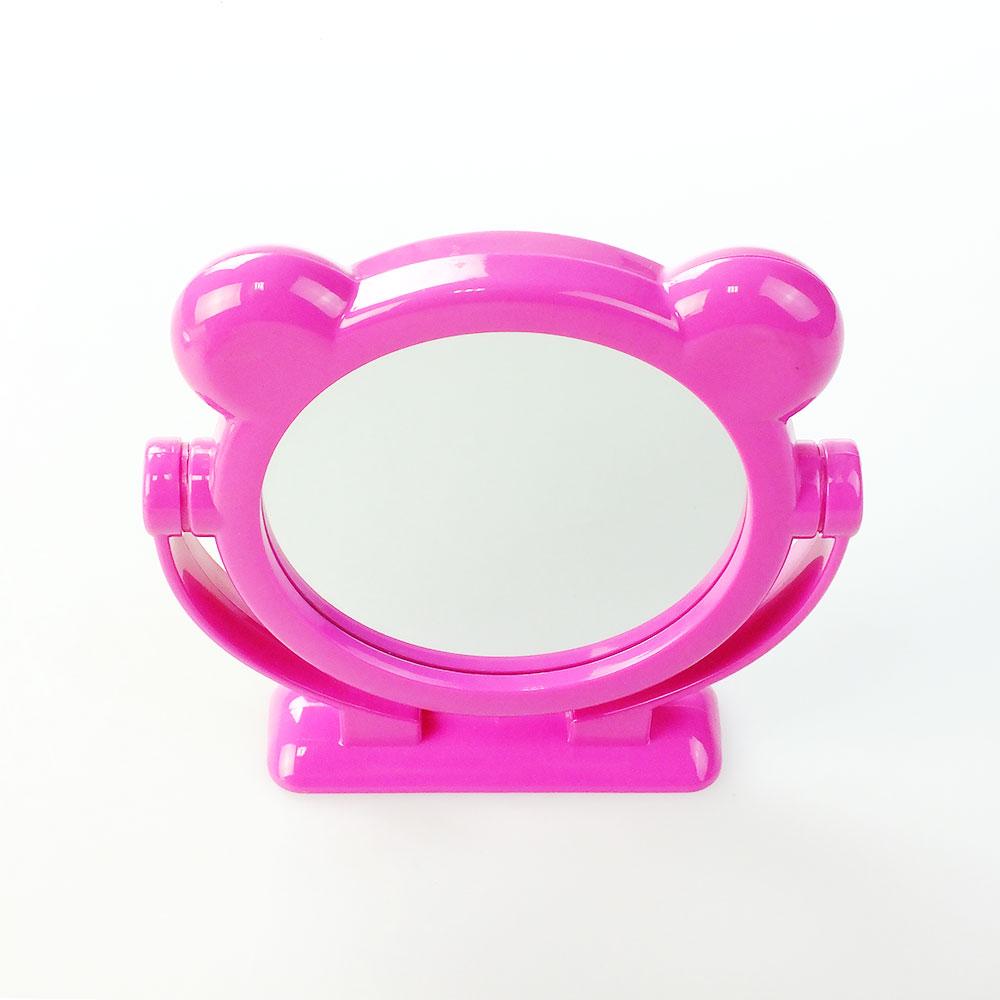 Зеркало настольное Migliores Двухстороннее зеркало с ушками, розовый зеркало настольное migliores настольное зеркало темно розовый