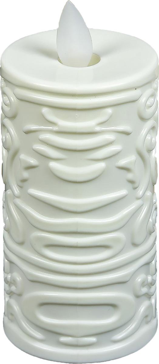 Ночник Risalux Свеча с узорами, LED, 3746967, белый, 10 х 5 х 5 см