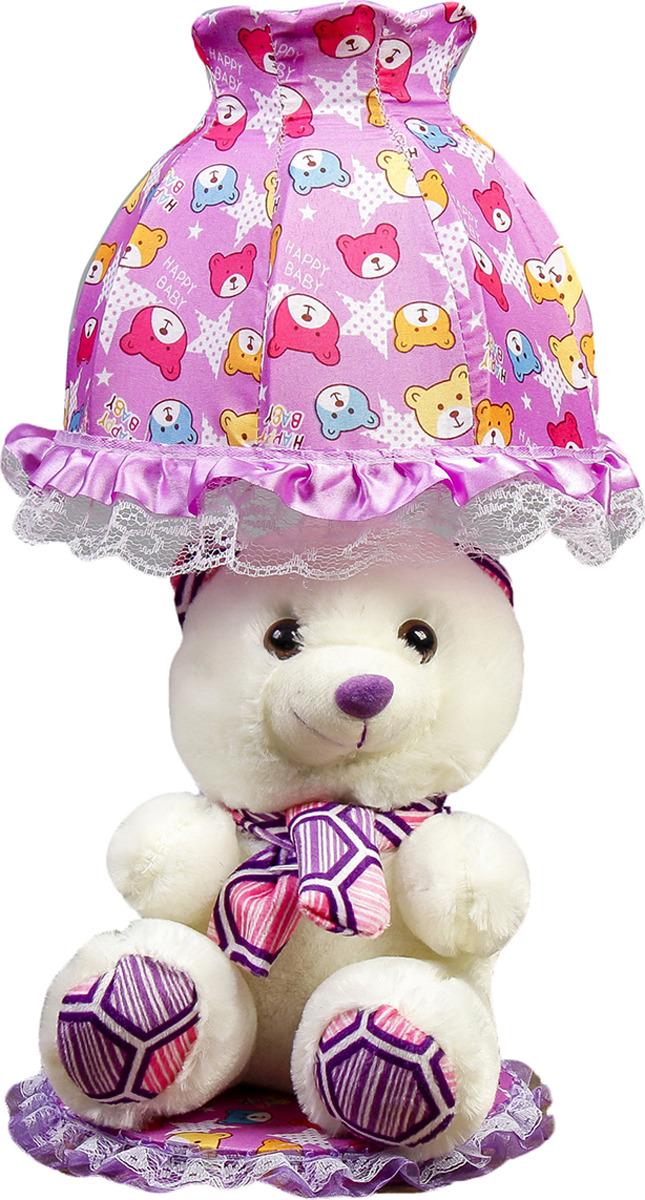 Настольный светильник Risalux Мишка с фиолетовым шарфом E14, 40W, E14, 40 Вт настольный светильник risalux три цветка e14 40w e14 40 вт
