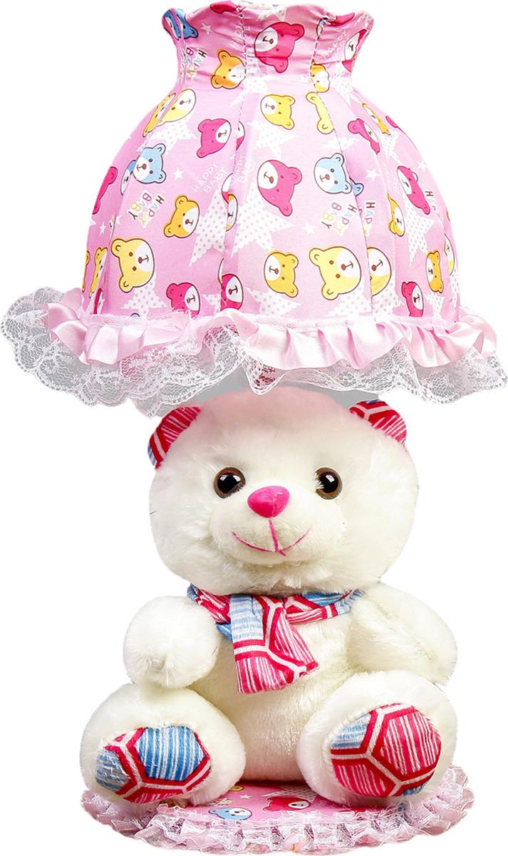 Настольный светильник Risalux Мишка с розовым шарфом E14, 40W, E14, 40 Вт настольный светильник risalux три цветка e14 40w e14 40 вт