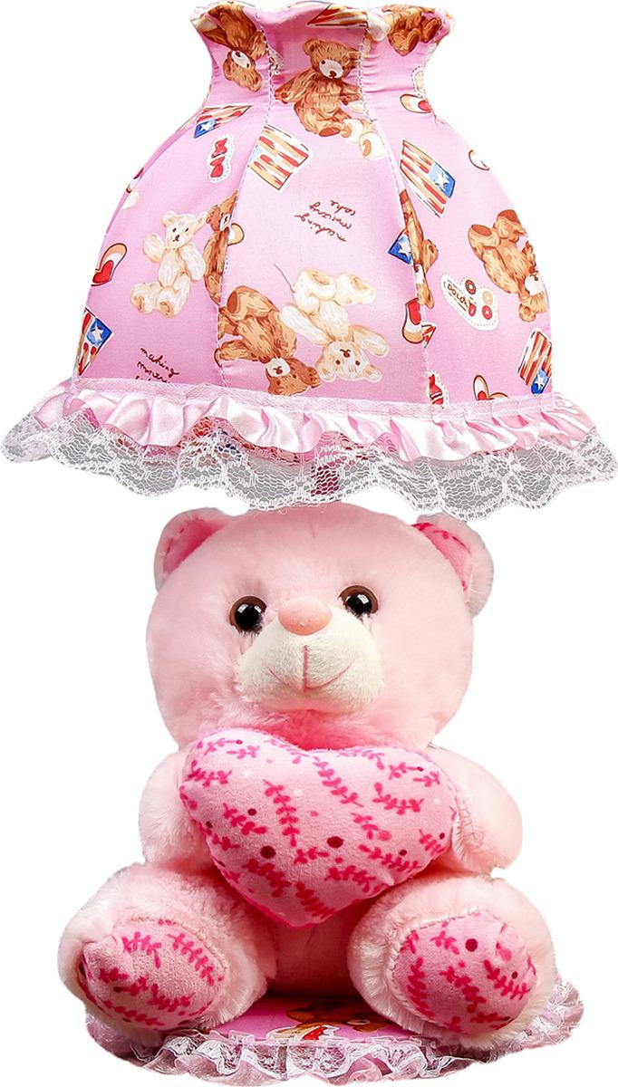Настольный светильник Risalux Мишка с сердцем E14, 40W, E14, 40 Вт настольный светильник risalux три цветка e14 40w e14 40 вт