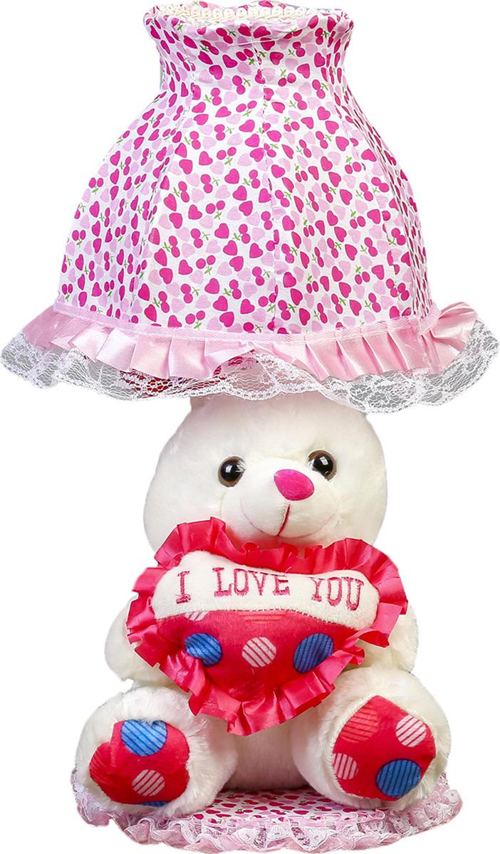 Настольный светильник Risalux Зайчик с сердцем E14, 40W, E14, 40 Вт настольный светильник risalux три цветка e14 40w e14 40 вт