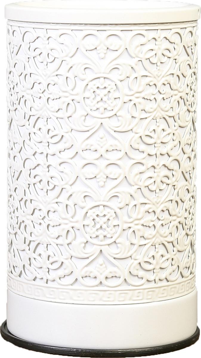 Аромасветильник Risalux Узоры, E14, 25W, 3924221, белый, 10,5 х 10,5 х 18 см