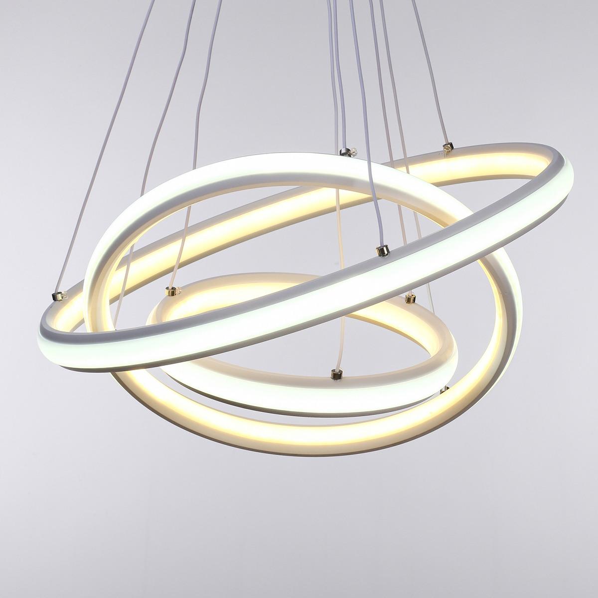 Люстра BayerLux Круги, LED, 100W, 3940816, 45 х 45 х 3,5 см