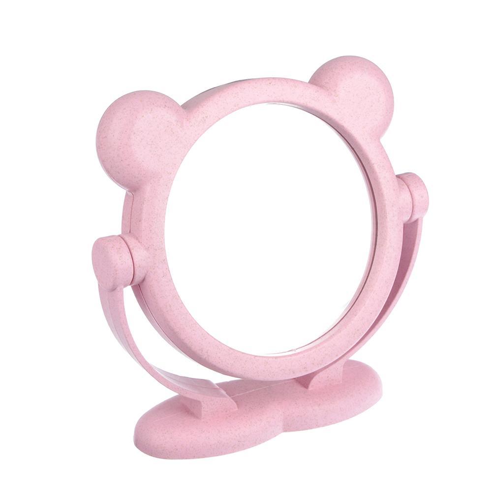 Зеркало настольное Migliores Двухстороннее зеркало с ушками, светло-розовый зеркало настольное migliores настольное зеркало темно розовый