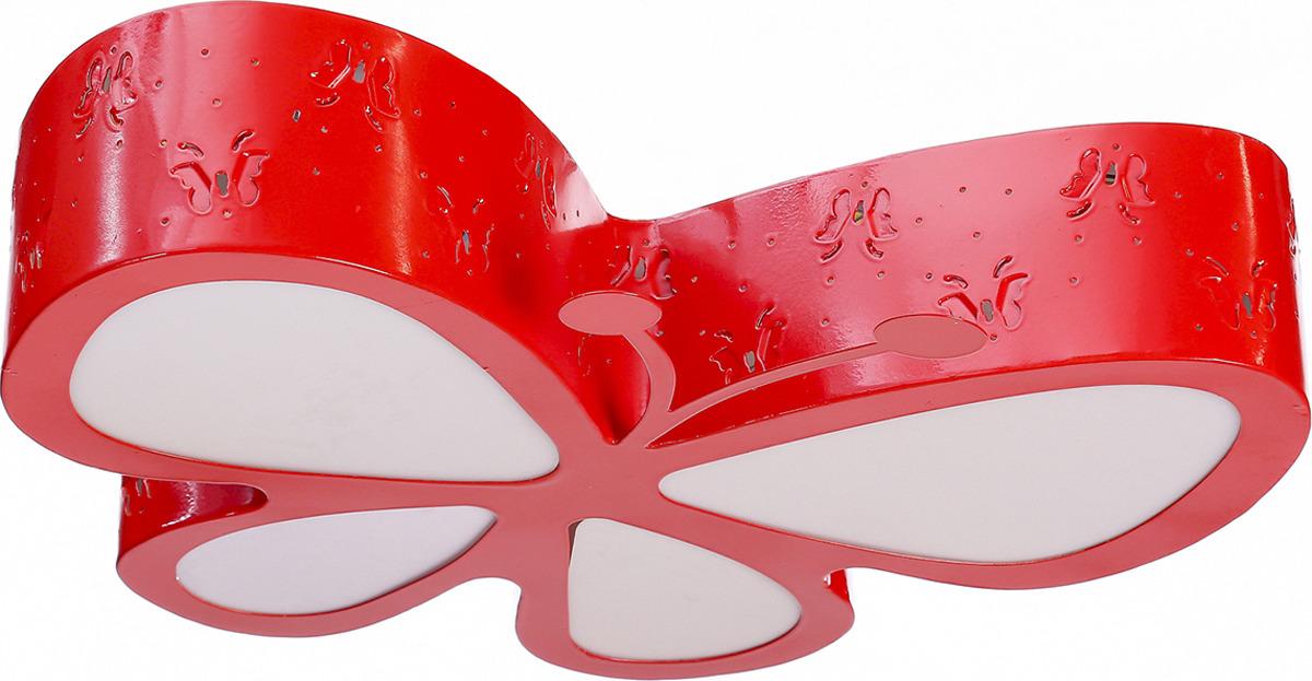 Люстра BayerLux Бабочка, LED, 48W, 3950868, красный, 52 х 46,5 х 10 см