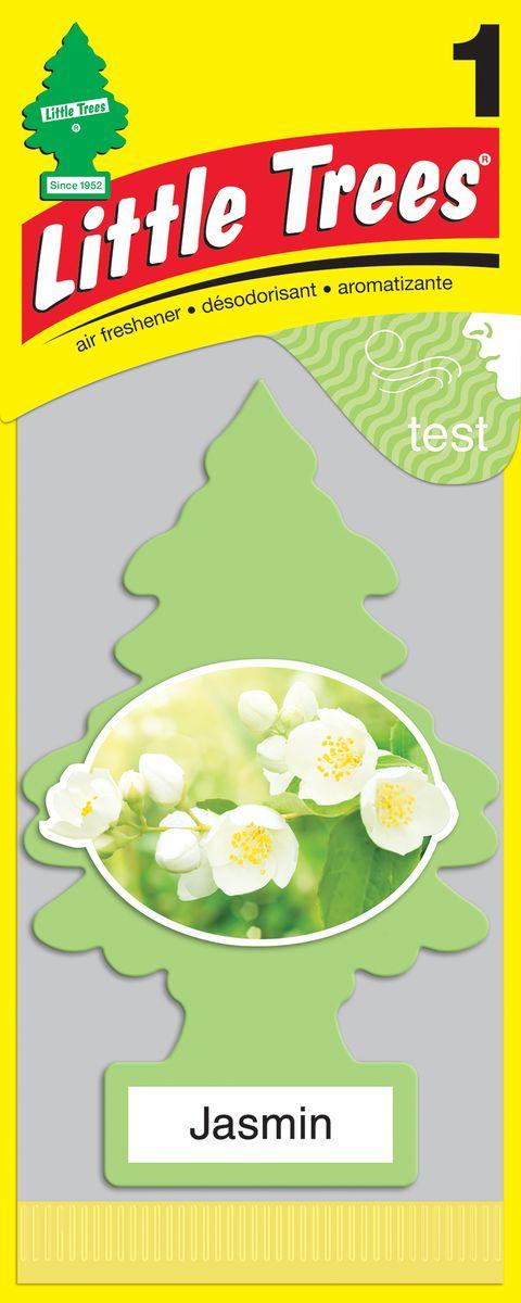 Освежитель воздуха Car-Freshner Little Trees Жасмин, U1P-10433-RUSS, желтый освежитель car freshner елочка кокос