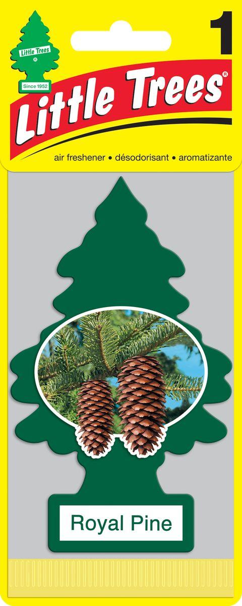 Освежитель воздуха Car-Freshner Little Trees Королевская сосна, U1P-10101-RUSS, зеленый освежитель car freshner елочка кокос