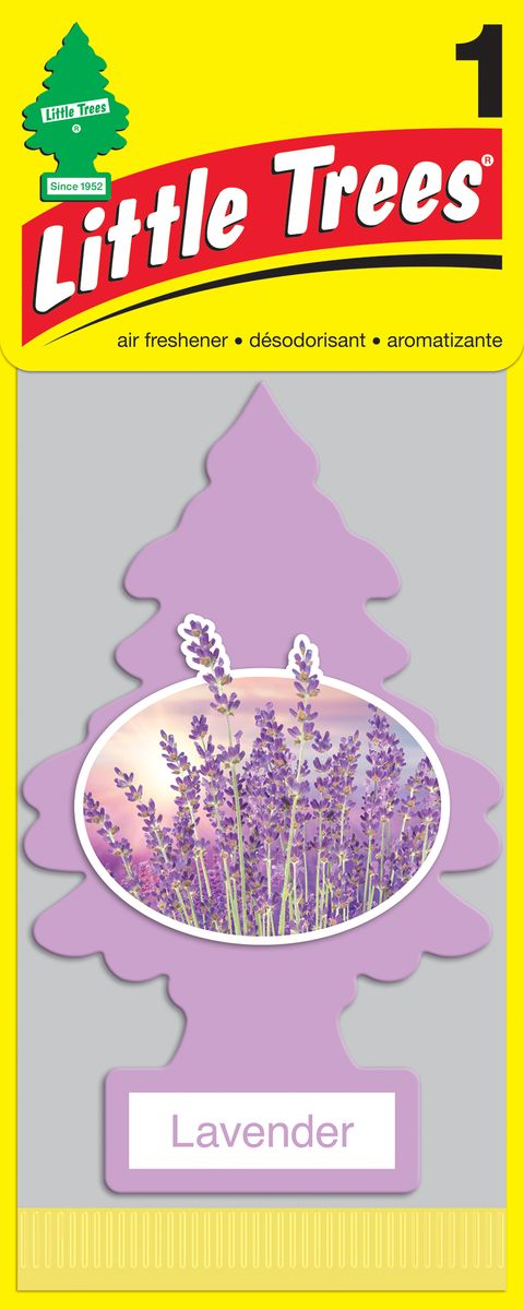 Освежитель воздуха Car-Freshner Little Trees Лаванда, U1P-10435-RUSS, фиолетовый освежитель car freshner елочка кокос