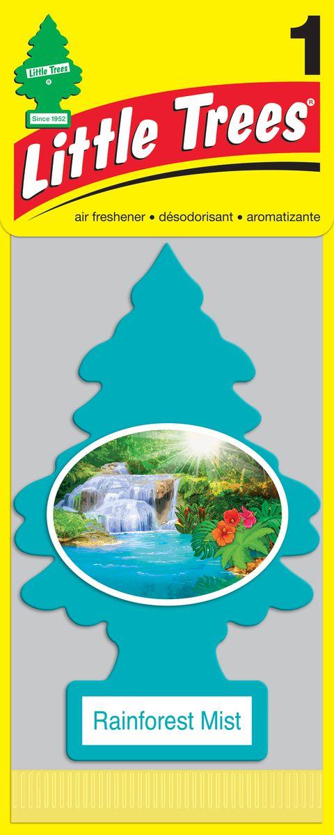 Освежитель воздуха Car-Freshner Little Trees Тропический туман, U1P-10106-RUSS, голубой освежитель car freshner елочка кокос