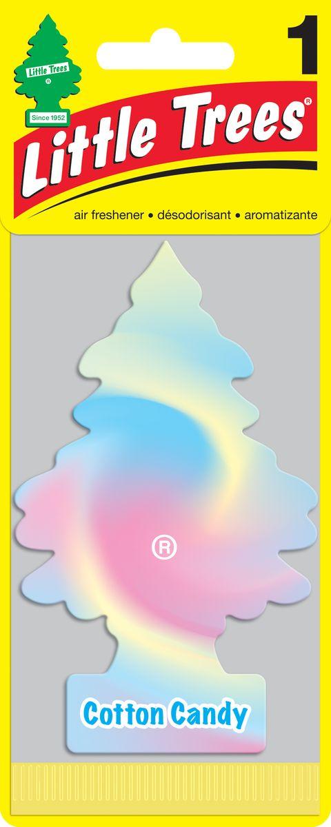 Освежитель воздуха Car-Freshner Little Trees Сладкая вата, U1P-10282-RUSS, разноцветный освежитель car freshner елочка кокос
