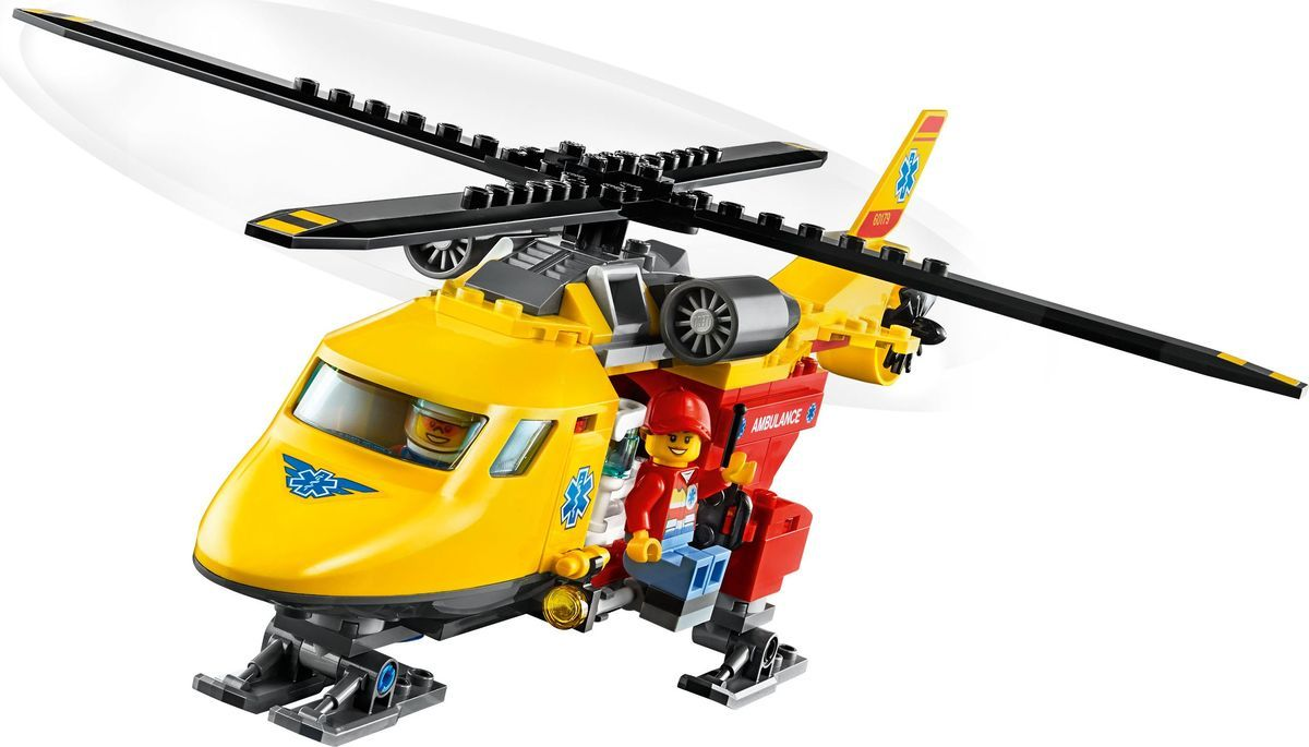Пластиковый конструктор LEGO 60179 lego city 60179 вертолёт скорой помощи lego