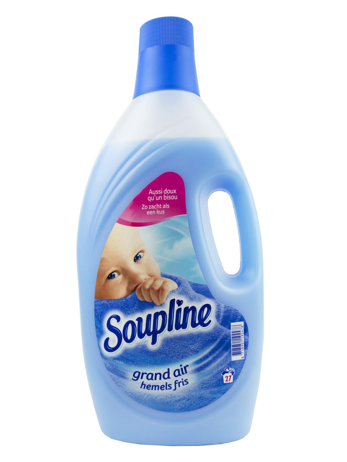 Кондиционер, ополаскиватель Soupline Смягчитель для тканей Воздушная свежесть, 1.9 литра 27 доз, Франция