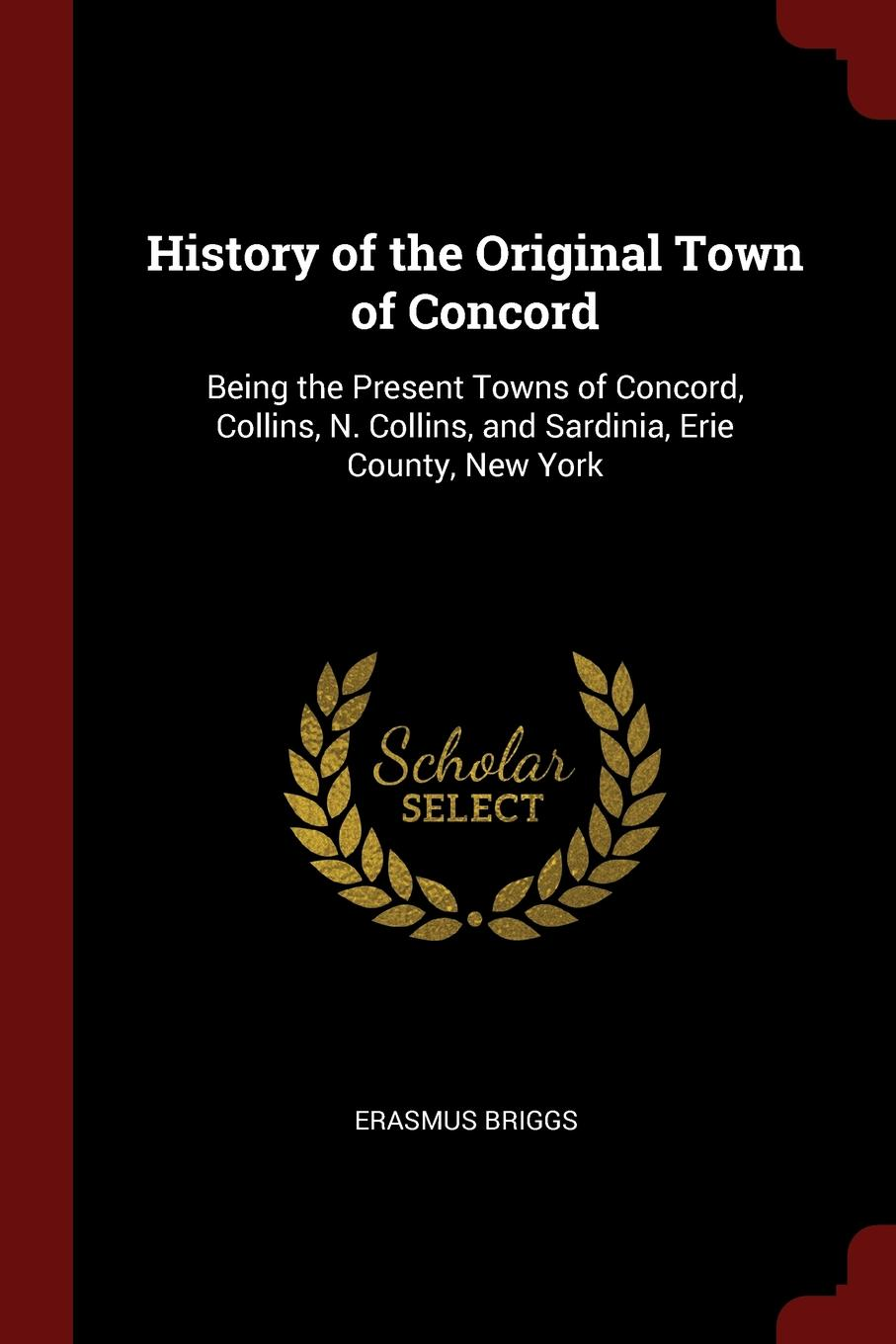 Erasmus Briggs History of the Original Town of Concord. Being the Present Towns of Concord, Collins, N. Collins, and Sardinia, Erie County, New York