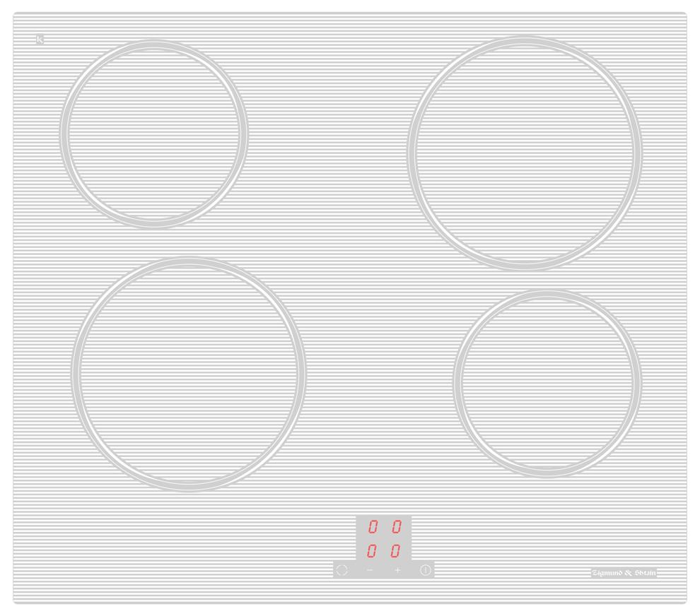 Варочная панель  CNS 027. 60 WX, белый • Фронтальное сенсорное управление • 9 уровней нагрева • Цифровая...