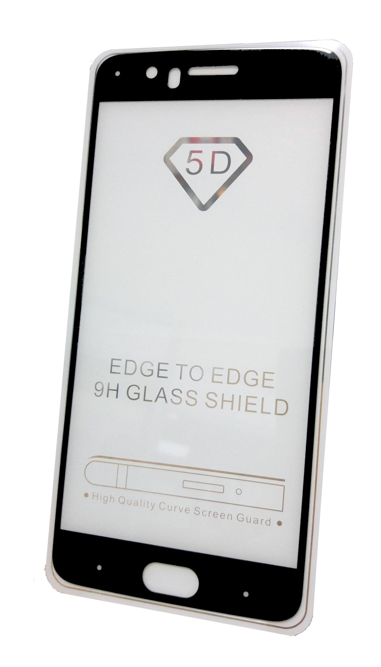 Защитное стекло OnePlus 5 (полная проклейка черная рамка), черный
