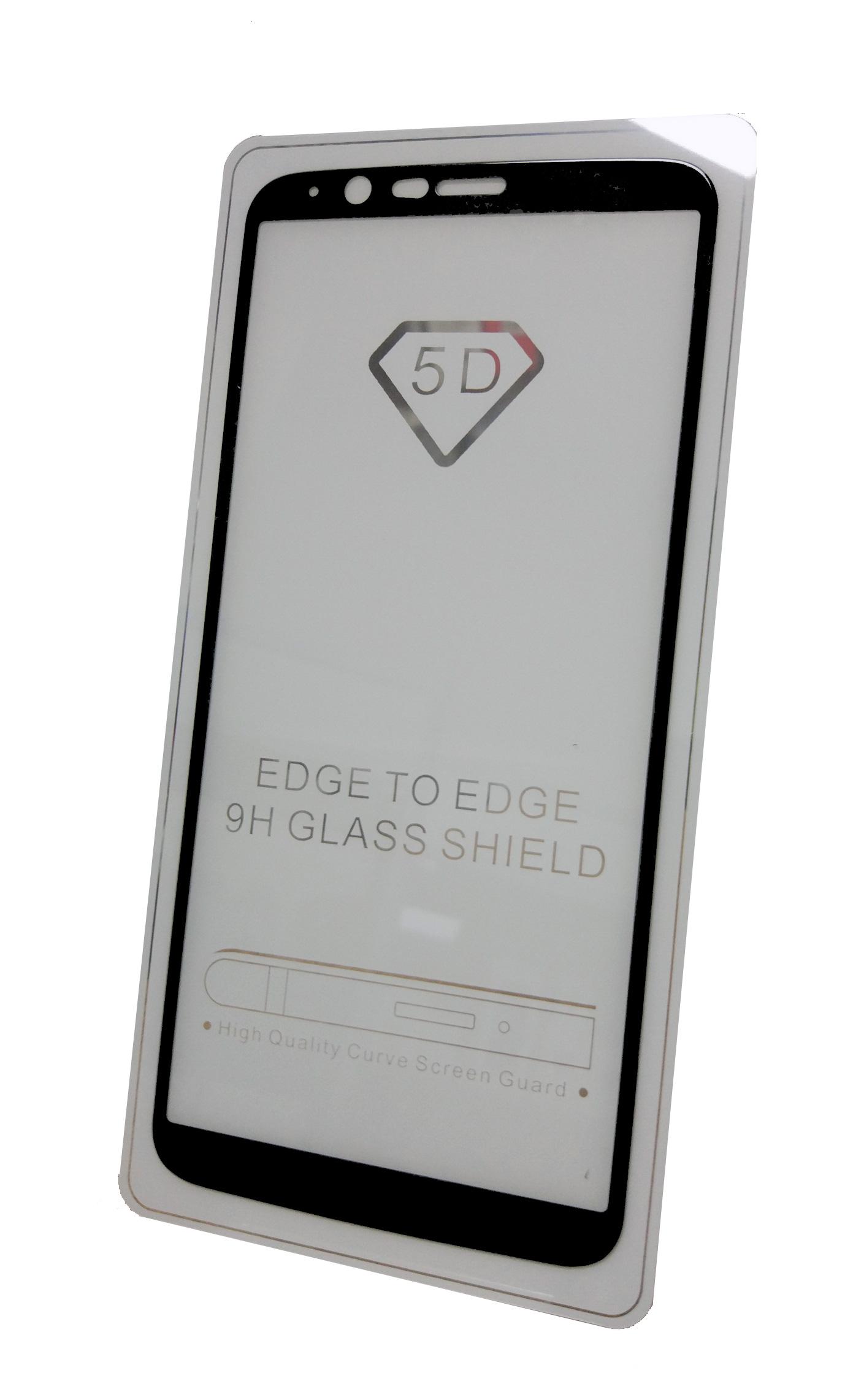 Защитное стекло OnePlus 5T (полная проклейка, черная рамка)