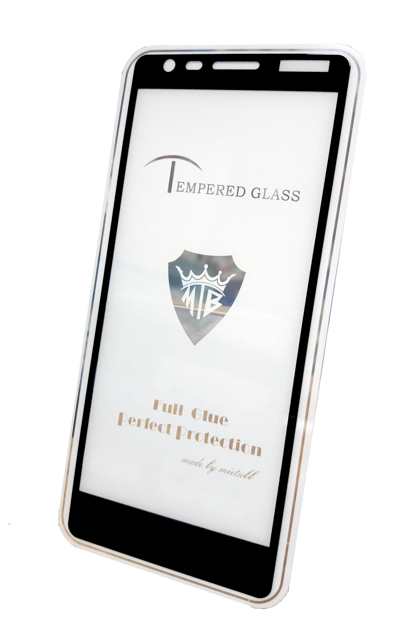 Защитное стекло Nokia 3.1 (2018 г. полная проклейка черная рамка), черный цена и фото