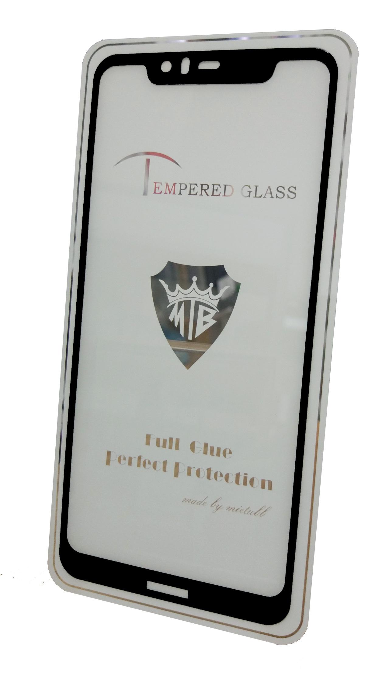 Защитное стекло Nokia 5.1 Plus (полная проклейка черная рамка), черный