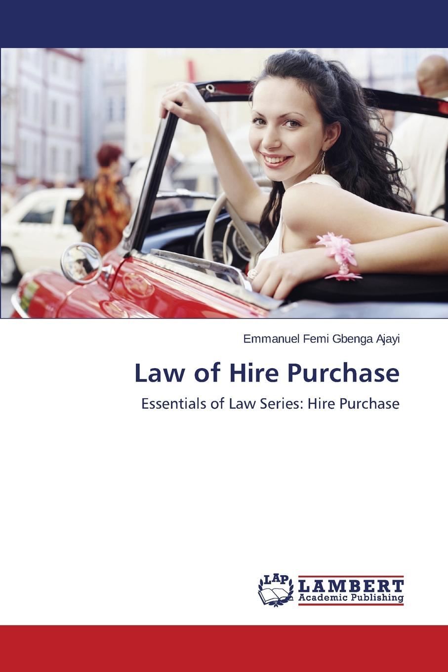 Ajayi Emmanuel Femi Gbenga Law of Hire Purchase original 1pcs byv20 40 goods in stock