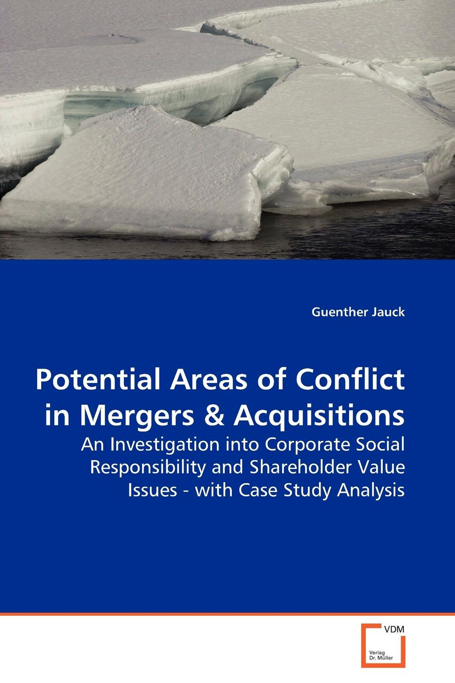 Guenther Jauck Potential Areas of Conflict in Mergers недорго, оригинальная цена