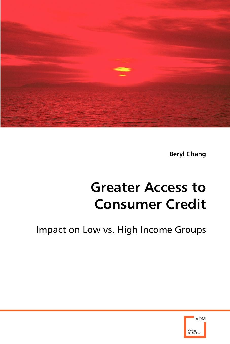 Greater Access to Consumer Credit The availability of consumer credit has expanded greatly during...