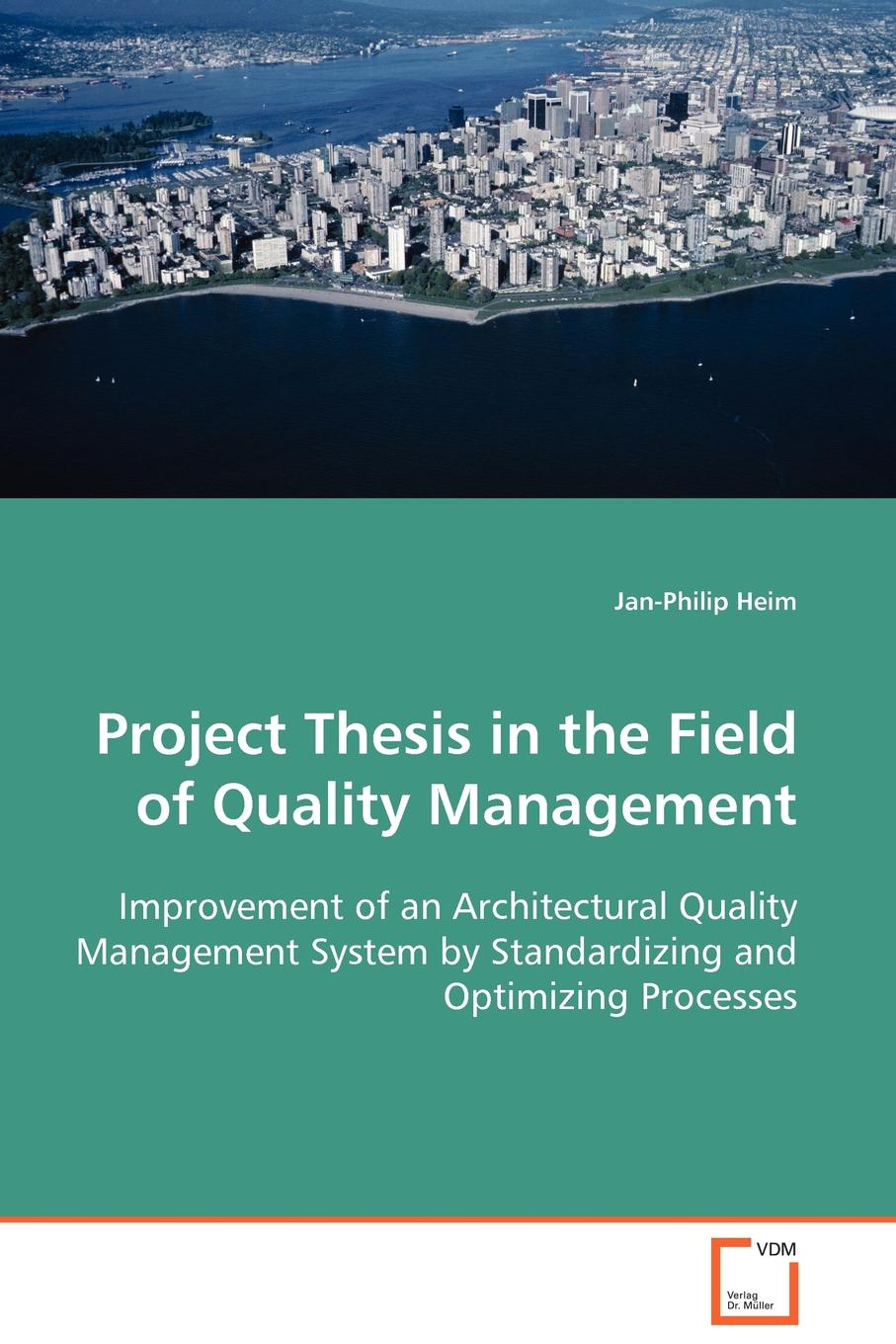 Jan-Philip Heim Project Thesis in the Field of Quality Management charles p quesenberry spc methods for quality improvement