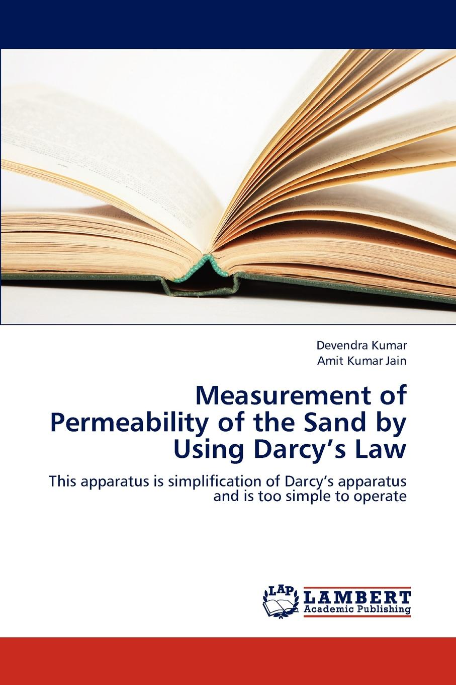 Kumar Devendra, Jain Amit Kumar Measurement of Permeability of the Sand by Using Darcy.s Law стоимость