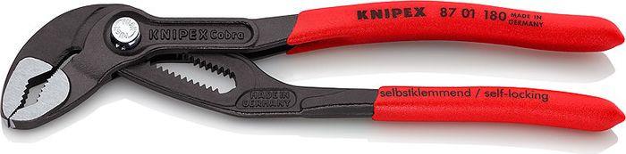 Клещи переставные Knipex, сантехнические, KN-8701180, красный, 180 мм