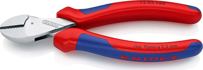Бокорезы Knipex X-Cut, компактные, KN-7305160, красный, синий бокорезы knipex kn 1426160