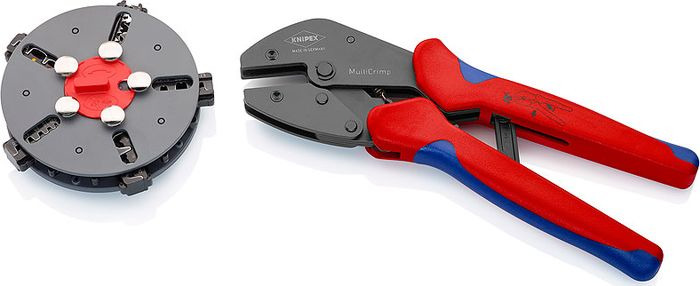 Клещи Knipex MultiCrimp, обжимные, KN-973302, красный, синий бокорезы knipex kn 1426160