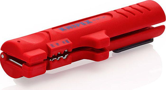 Инструмент для снятия изоляции Knipex, KN-1664125SB, красный