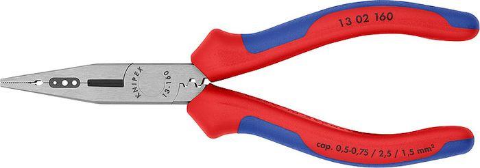 Инструмент для снятия изоляции Knipex, KN-1302160, красный, синий, 160 мм