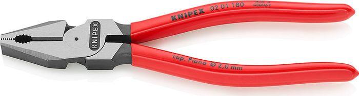 Пассатижи Knipex, силовые, KN-0201180, красный, 180 мм бокорезы knipex kn 7401160 силовые 1000v